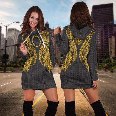 Cook islands Polynesian Lion Head Gold Style Hoodie Dress