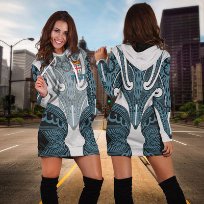 Fiji Active Special Flag Polysenian Tattoo Hoodie Dress