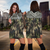 Camo Polynesian Pattern Hoodie Dress