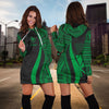 Hawaii T-Shirt Kanaka Maoli Green Polynesian Tentacle Tribal Pattern Hoodie Dress - luxamz