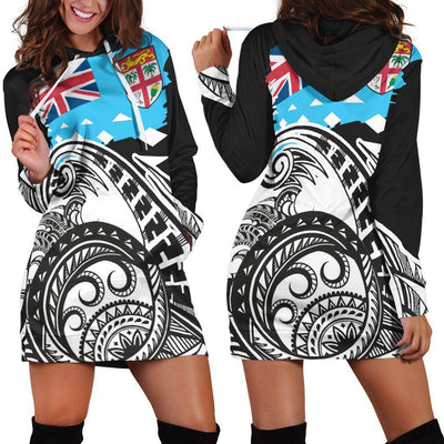Fiji Custom Personalised Dynamic Sport Style Hoodie Dress