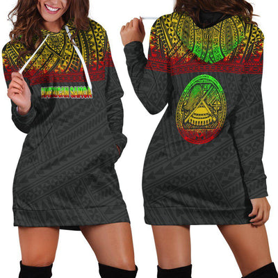 American Samoa All Over Custom Personalised Hoodie Dress