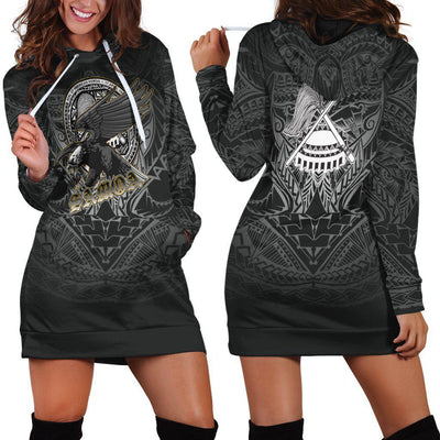 American samoa polynesian eagle hoodie dress