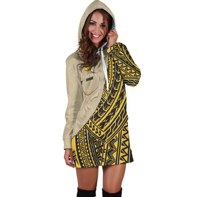 Hawaii Polynesian Wild Style Hoodie Dress