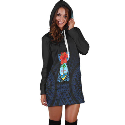 Guam Coat Of Arms Latte Stone Hoodie Dress