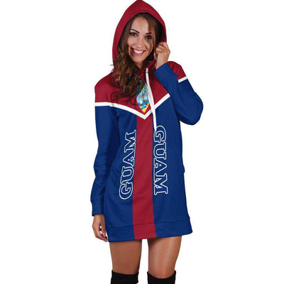 Guam Pullover Guam Flag Coat Of Arms Hoodie Dress