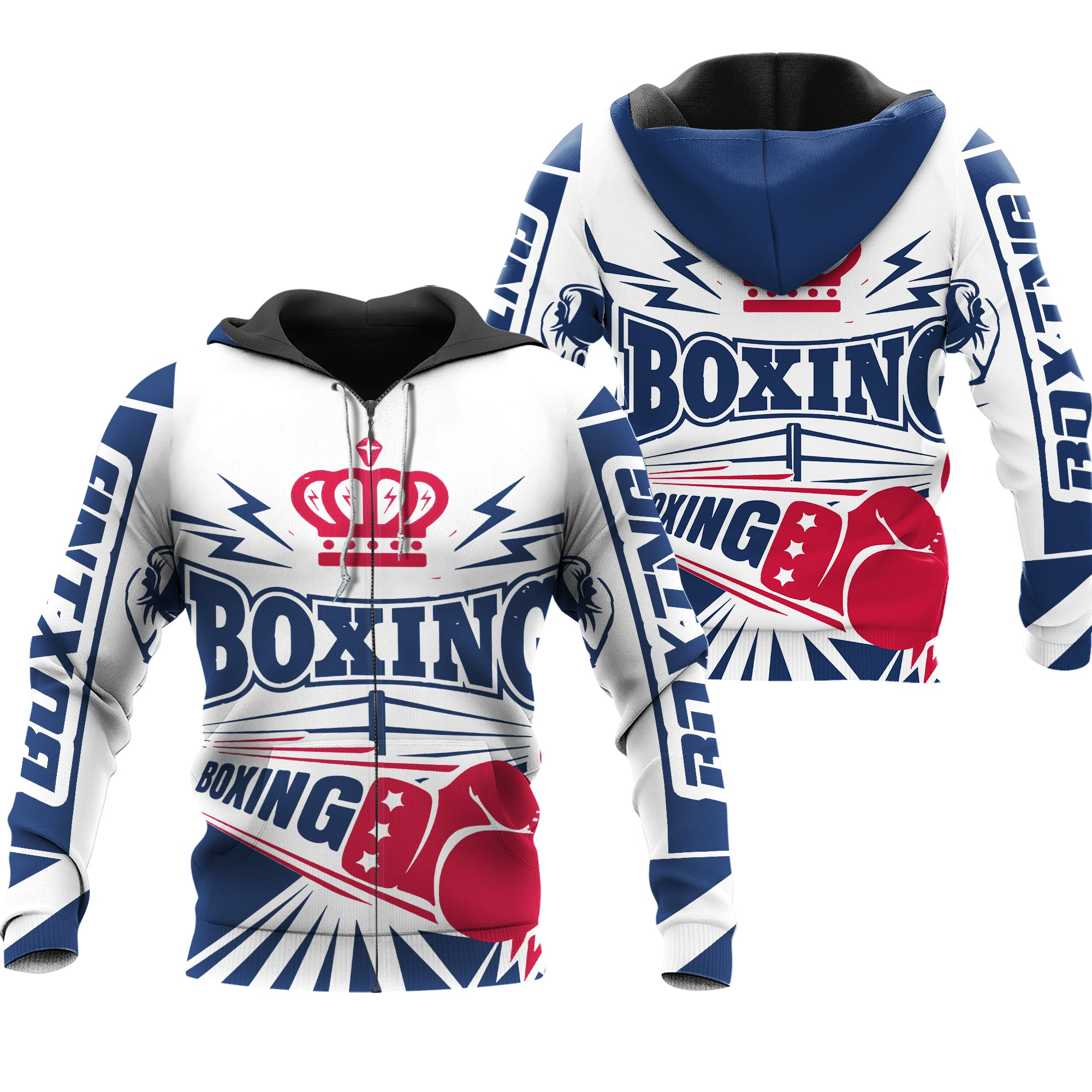Boxing And Crown Workout Fitness All Over Print - luxamz