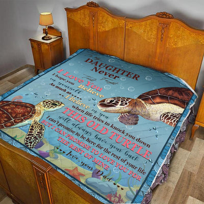TO MY DAUGHTER TURTLE BLANKET All Over Printed - luxamz