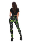 GREEN COUNTRY GIRL ON BLACK Legging And Tank Top All Over Print