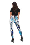 Blue neon deer hunting lover Legging and Tank top All Over Print