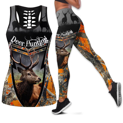 DEER HUNTING LOVER HOBBIES LEGGING AND TANK TOP ALL OVER PRINTED