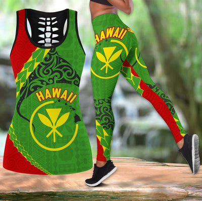 Hawaii Combo Tank Top Legging All Over Print - luxamz