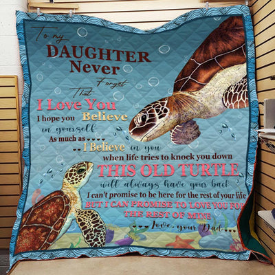TO MY DAUGHTER TURTLE BLANKET All Over Printed