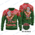 Christmas Santa Claus Playing The Ukulele Ugly Christmas Wool sweater