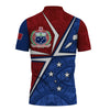 Samoa Flag with Polynesian Patterns Polo Shirt All Over Print