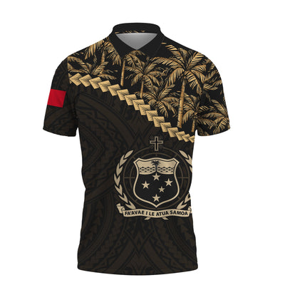 Samoa Golden Coconut Polo Shirt All Over Print