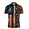 AMERICAN DEER HUNTER POLO SHIRT ALL OVER PRINT