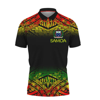 Samoa Polynesian Turtle Tattoo Fog Reggae Polo Shirt All Over Print