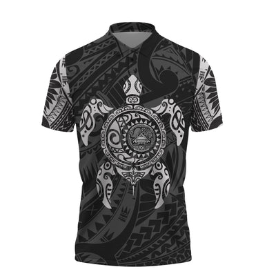 American Samoa Turtle Polynesian Polo Shirt All Over Print