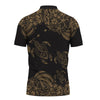 Hawaii Polynesian Gold Sea Turtle Tattoo Cultural polo shirt All Over Print