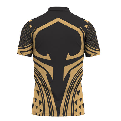 Hawaii Polynesian Gold in Style color Polo Shirt All Over Print