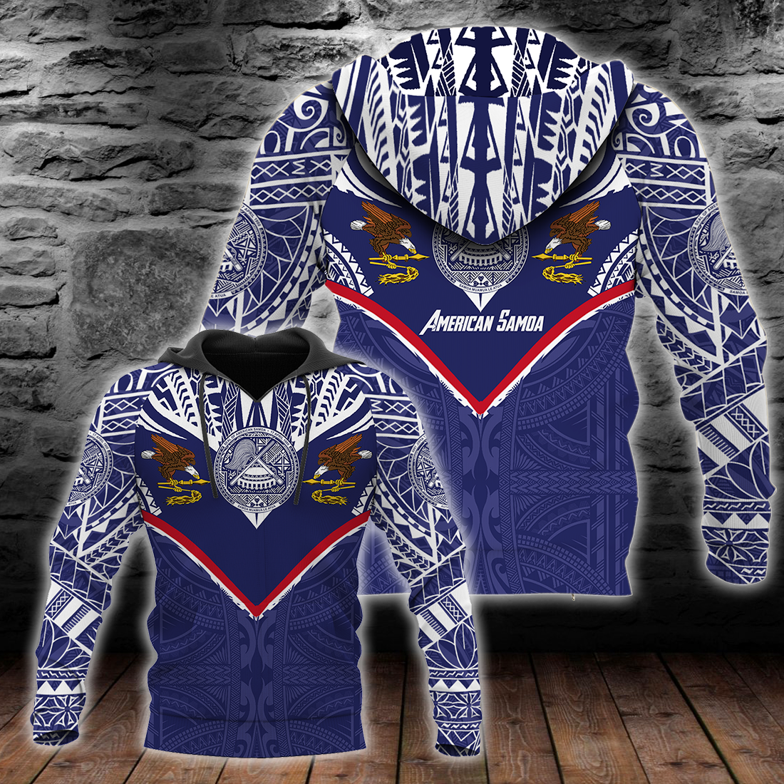 American Samoa Powerful Eagle all over print