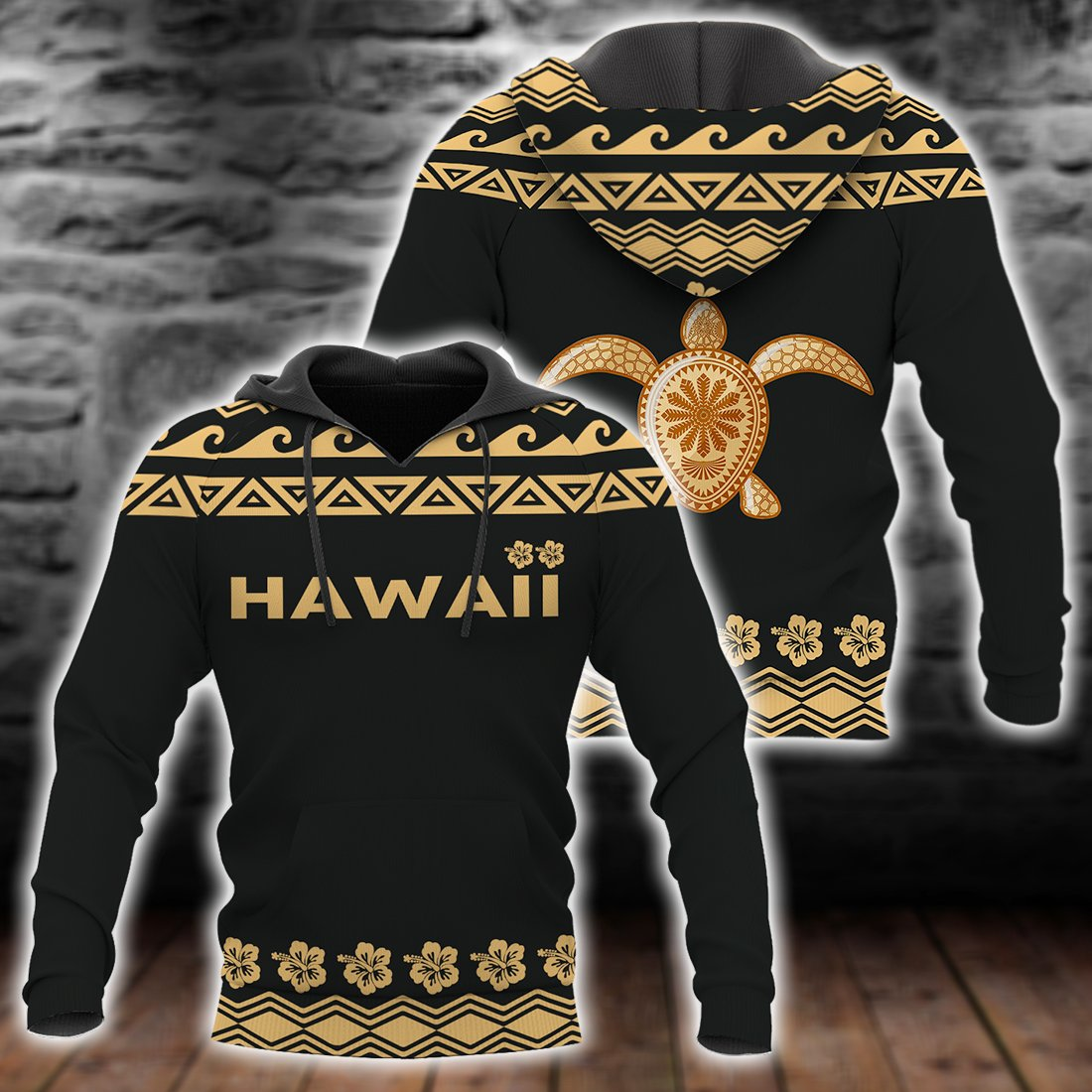 Hawaii Turtle Tribal Hibiscus Pattern all over print - luxamz