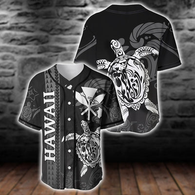 Polynesian Hawaii Turtle lover Eternity Black baseball jersey For Hot Summer - luxamz