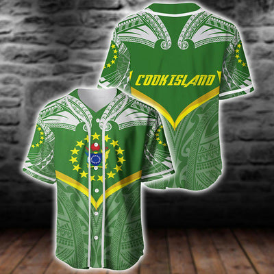 Cook island Powerful Flag Seal Polynesian Baseball Jersey For Hot Summer