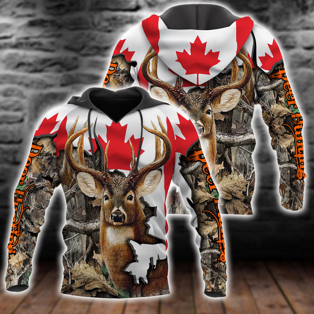 DEER HUNTING CANADA ALL OVER PRINT SHIRT FOR MEN AND WOMEN