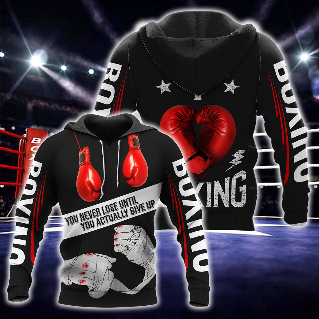 Boxing 3D In Heart All Over Print