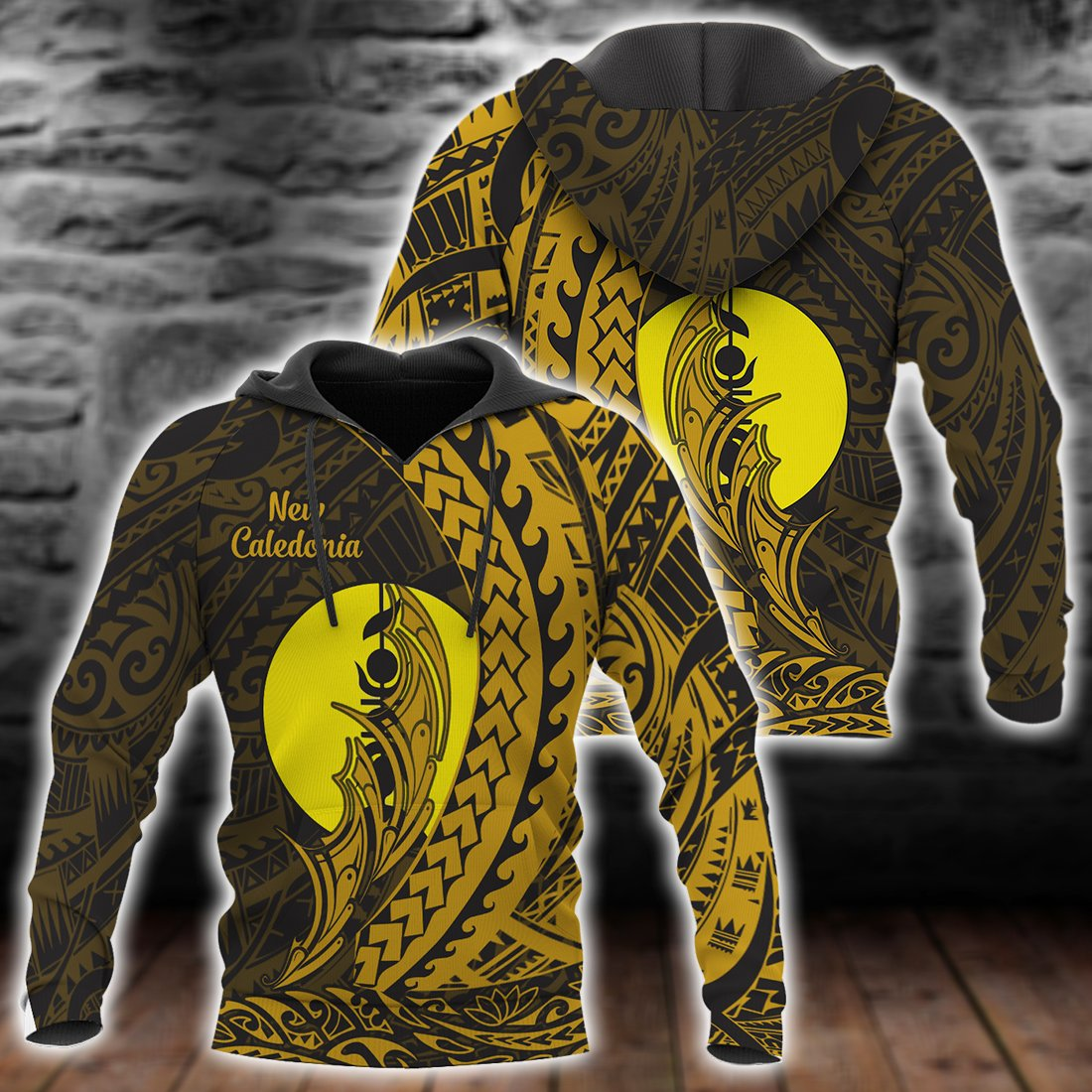 New Caledonia Hoodie Wings Style All Over Print - luxamz