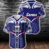 Samoa Powerful Hoodie Flag Seal Polynesian Baseball Jersey For Hot Summer