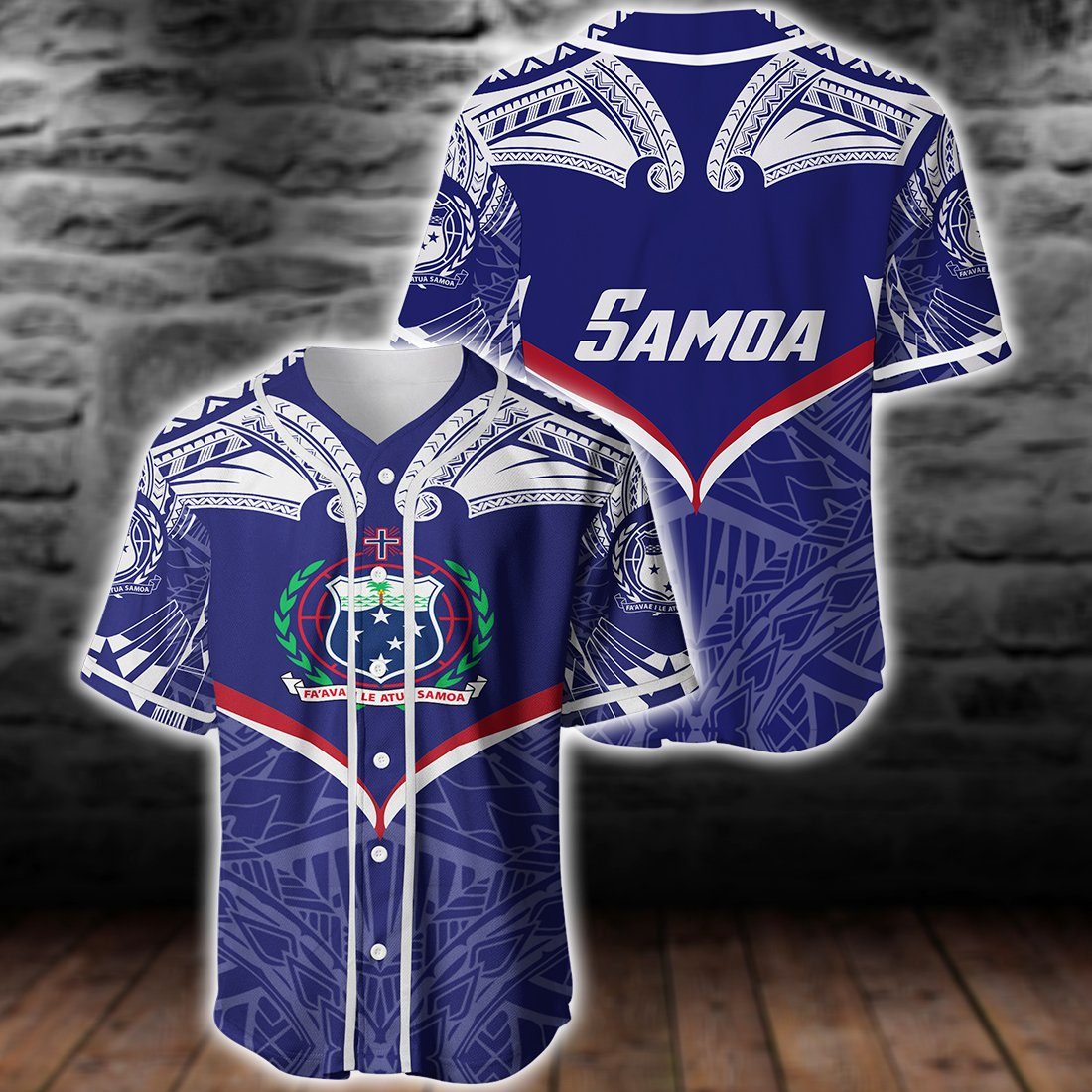 Samoa Powerful Hoodie Flag Seal Polynesian Baseball Jersey For Hot Summer - luxamz