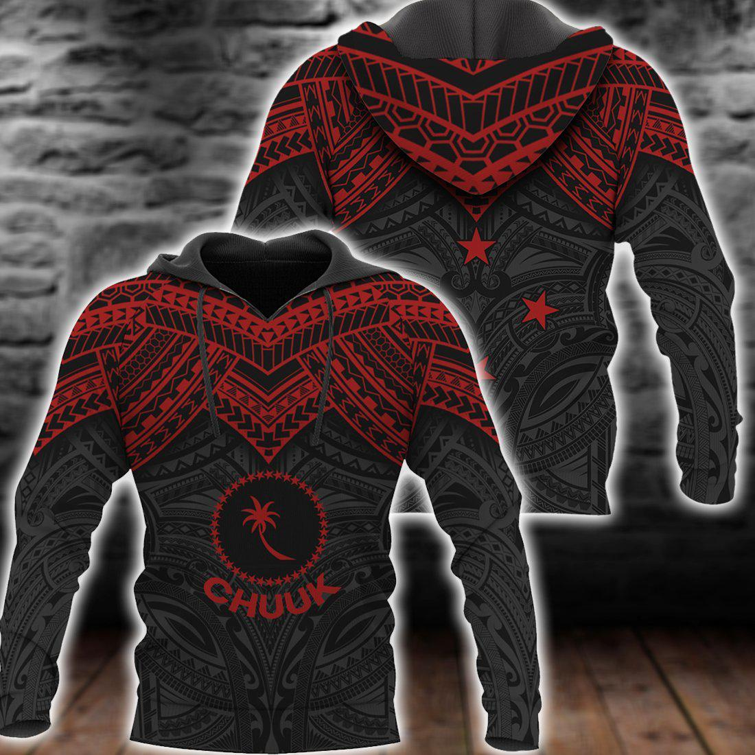 Chuuk Micronesian Red Armor Style All Over Print
