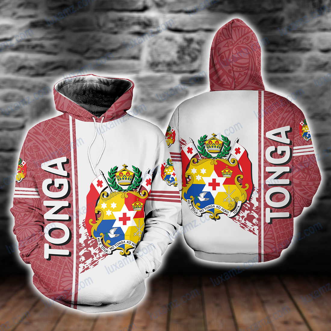 Tonga Coat Of Arms Sweatshirt Quarter Style All Over Print