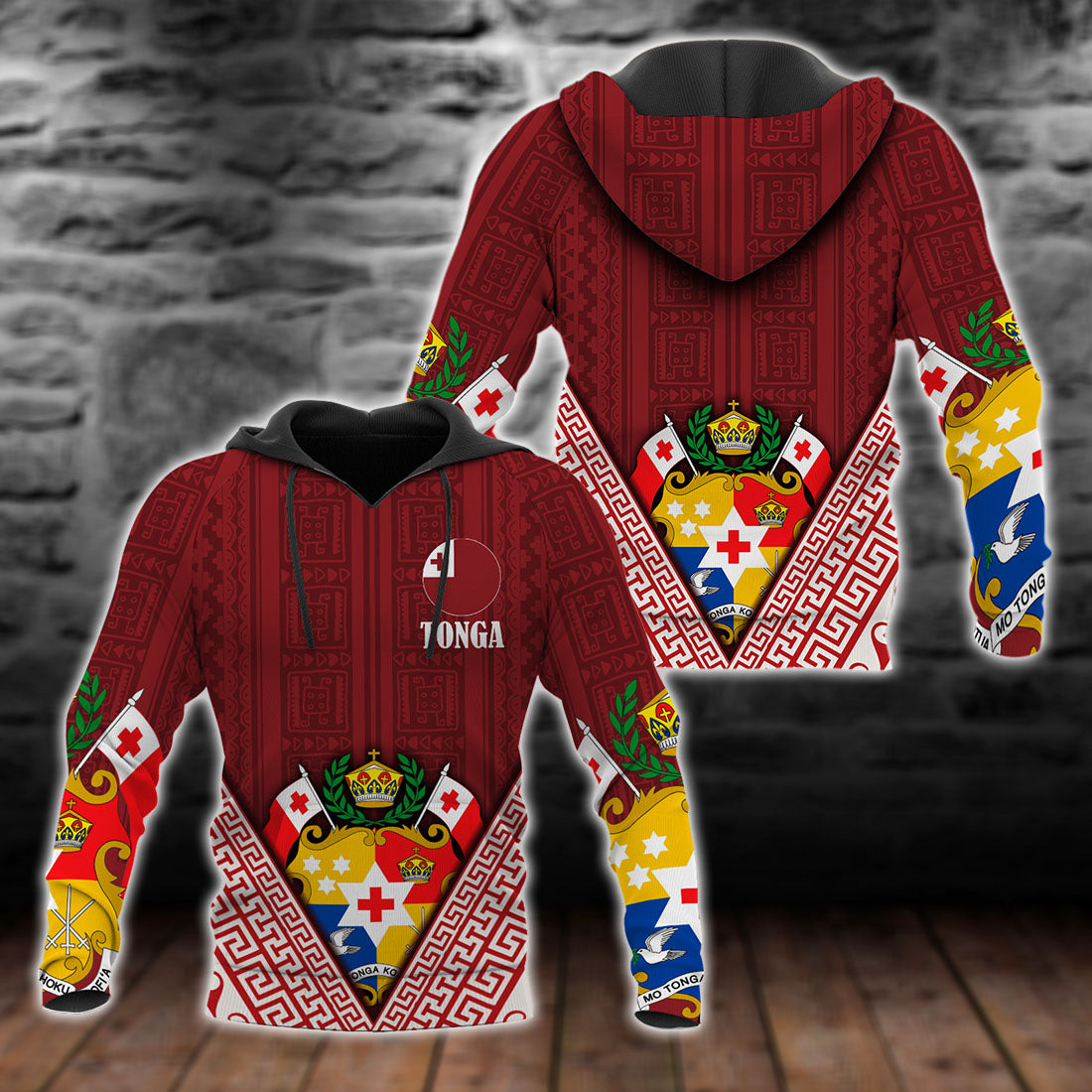 Tonga Dreamer Pullover Tonga Flag Coat Of Arms All Over Print