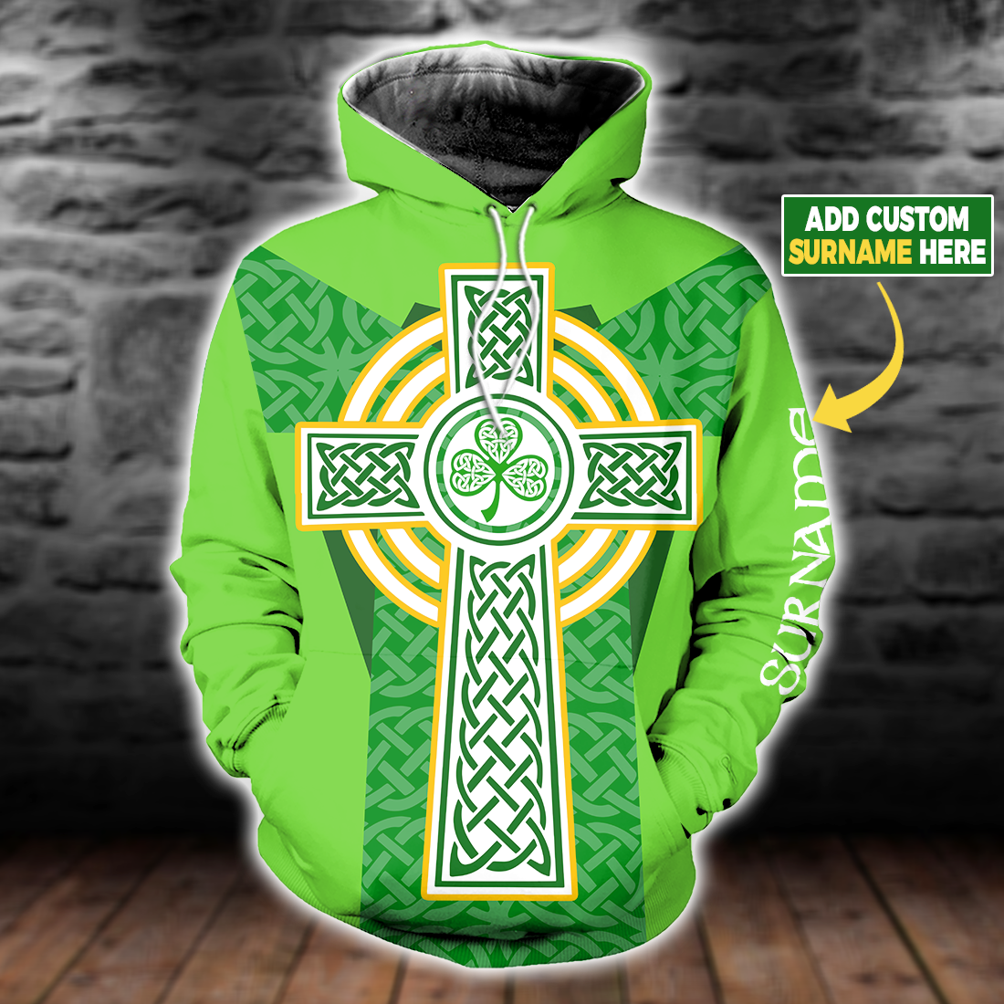 Proud To Be Irish Cross All Over Print