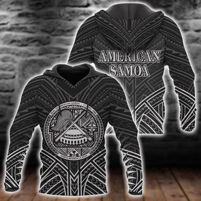 American Samoa Polynesian Pattern Black Color all over print