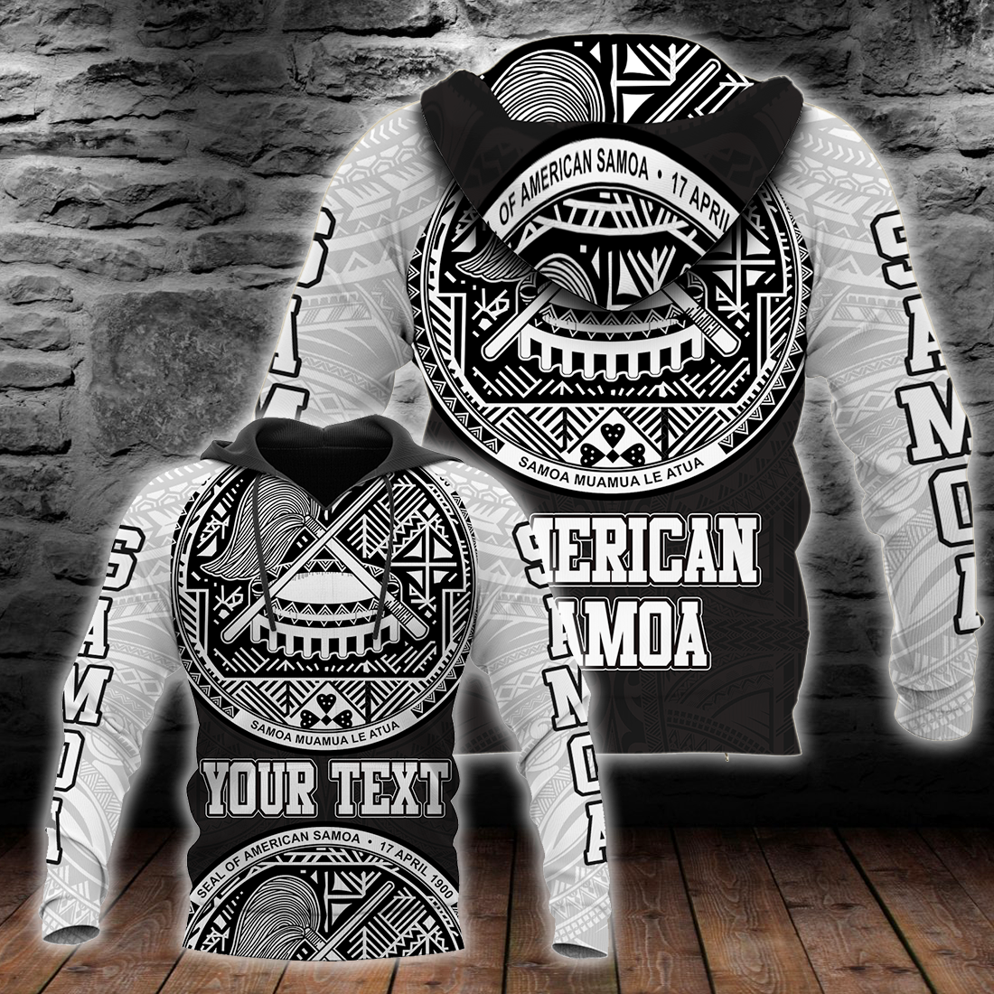American Samoa Coat Of Arm Custom Personalised all over print