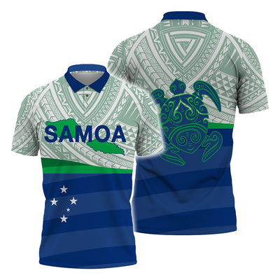 Samoa Polynesian pattern Style  Polo Shirt All Over Print - luxamz