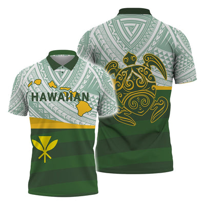 Hawaii style Polo Shirt All Over Print - luxamz