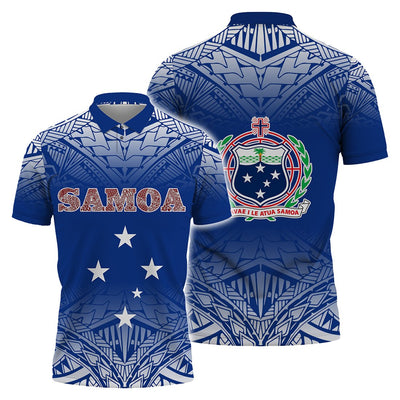 Samoa Polynesian Polo Shirt All Over Print