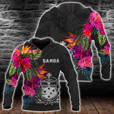 Samoa Hibiscus Pattern all over print