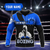 Boxing King Crown 3D Blue Customize Name All Over Print