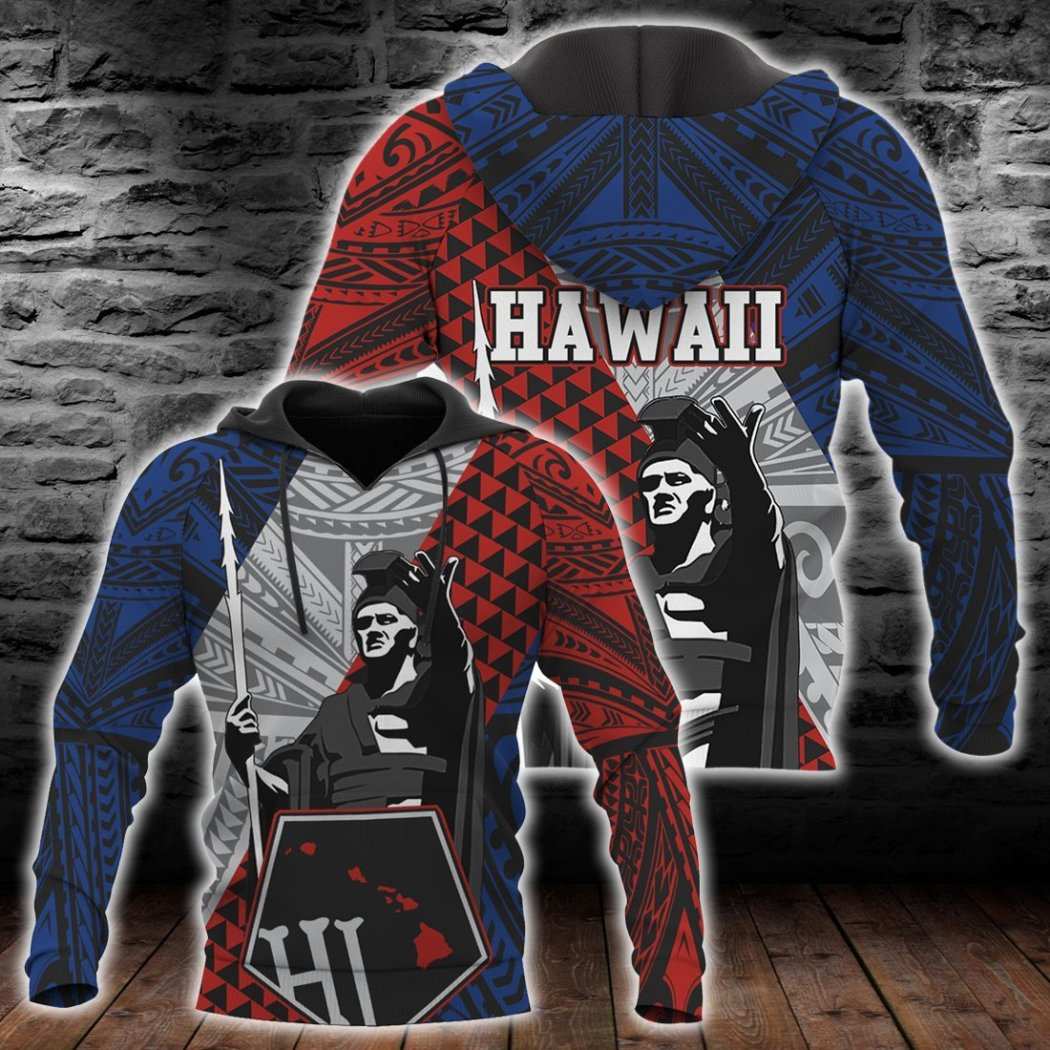Kanaka King Polynesian Hoodie all over print