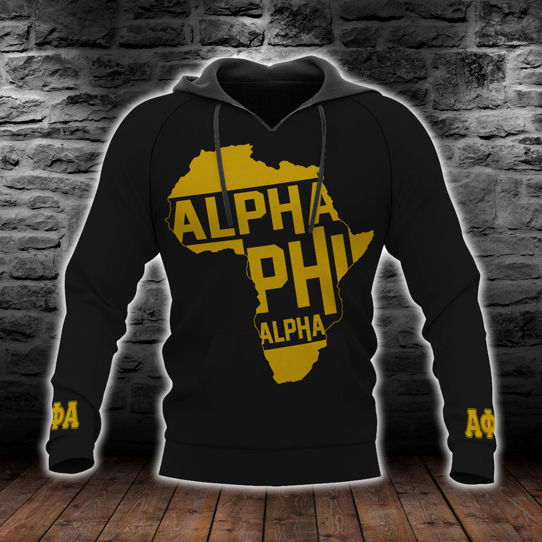 Alpha phi alpha fraternity African map lover All Over Print