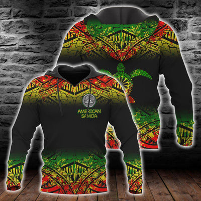 American samoa Polynesian Turtle Tattoo Fog Reggae All Over Print
