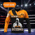 Boxing King Crown 3D Orange Customize Name All Over Print