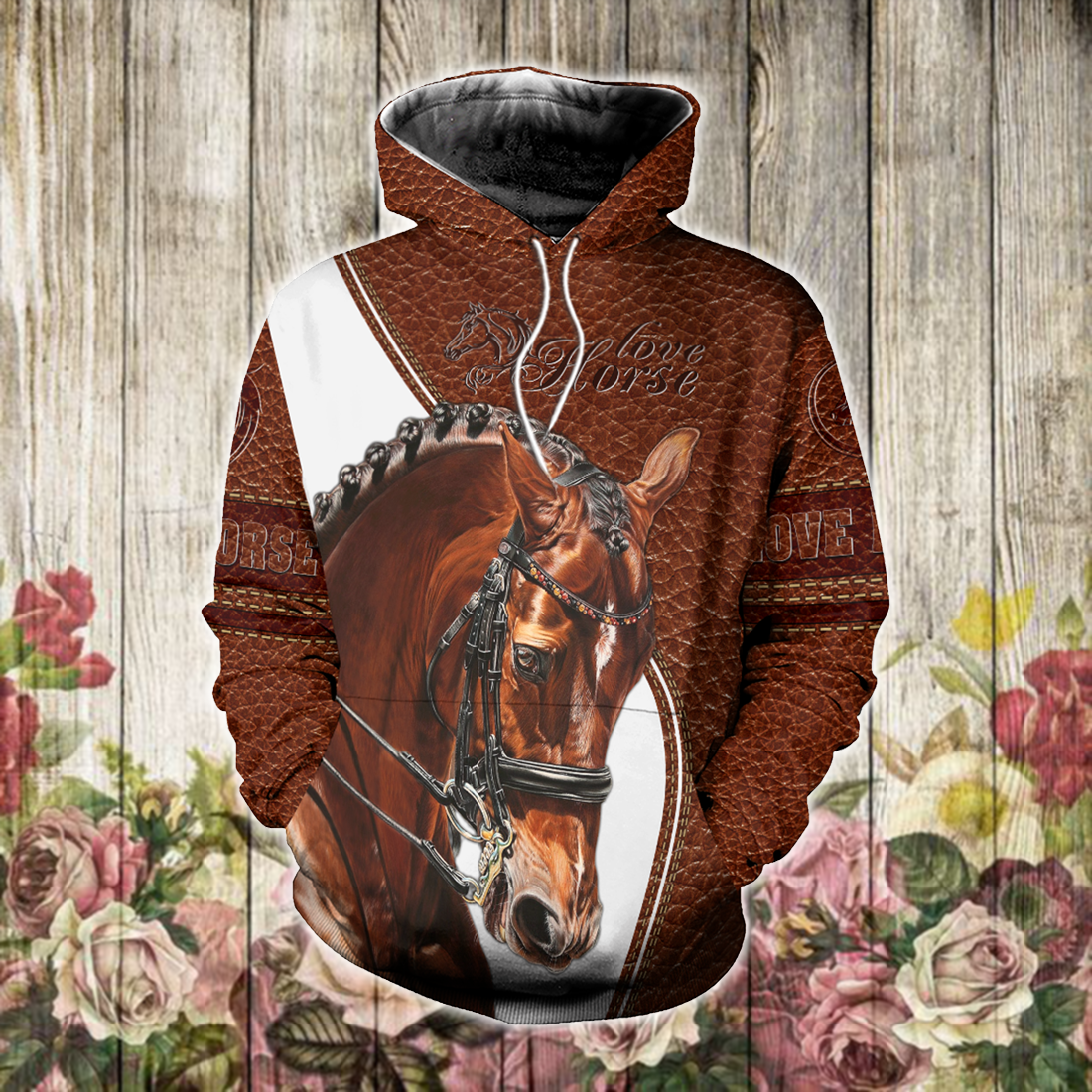 BROWN HORSE ALL OVER PRINT